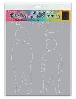 "Dylusions - Stencil Silhouette - 9x12"" Otis"