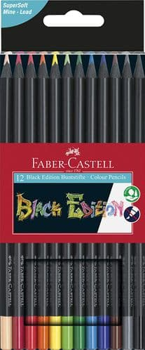 Faber Castell - Black Edition - Coloured Pencils - 12pack