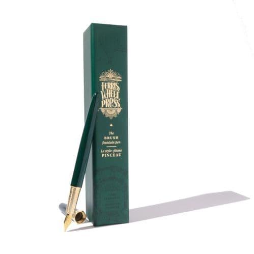 Ferris Wheel Press - Brush Fountain Pen - Lord Evergreen - 14-Karat plated gold nib
