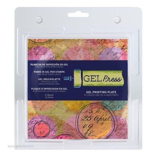 "Gel Press - Printing Plate - 6"" Round"