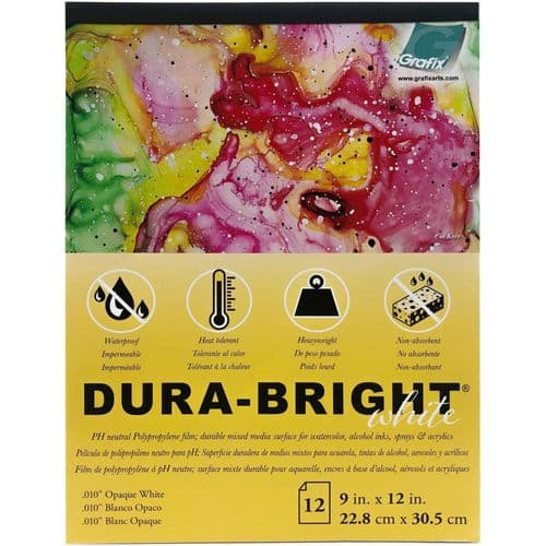 "Grafix - Dura-Bright Opaque White Pad .010"" Pad 9x12"