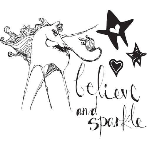Jane Davenport - Artomology - Clear Stamps - Unicorn Sparkle