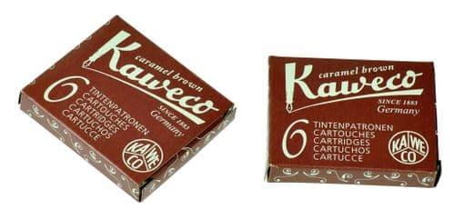 Kaweco - Ink Cartridges - International Standard Size - Caramel Brown