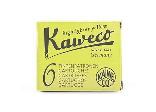 Kaweco - Ink Cartridges - International Standard Size - Glowing Yellow