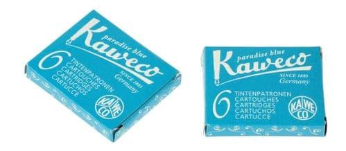 Kaweco - Ink Cartridges - International Standard Size - Paradise Blue