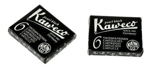 Kaweco - Ink Cartridges - International Standard Size - Pearl Black