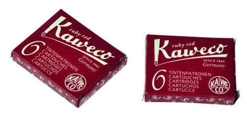 Kaweco - Ink Cartridges - International Standard Size - Ruby Red