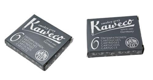 Kaweco - Ink Cartridges - International Standard Size - Smokey Grey