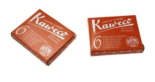 Kaweco - Ink Cartridges - International Standard Size - Sunrise Orange
