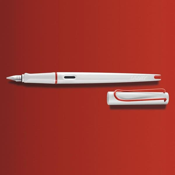 Lamy - Joy - Calligraphy Pen - White & Red