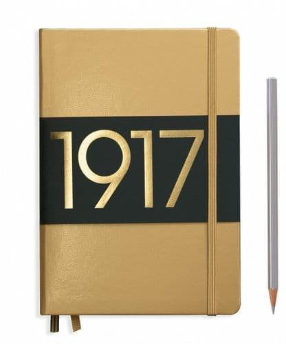 Leuchtturm 1917 - Notebook Medium (A5) Metallic Edition - Hardcover - Gold