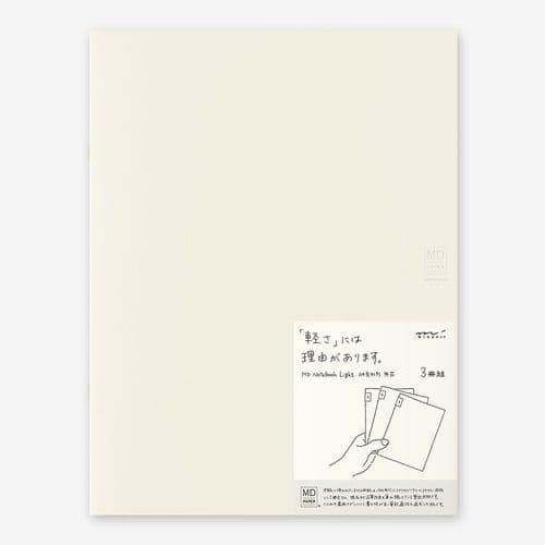 MD - Notebook Light 3 pack - A4 Blank