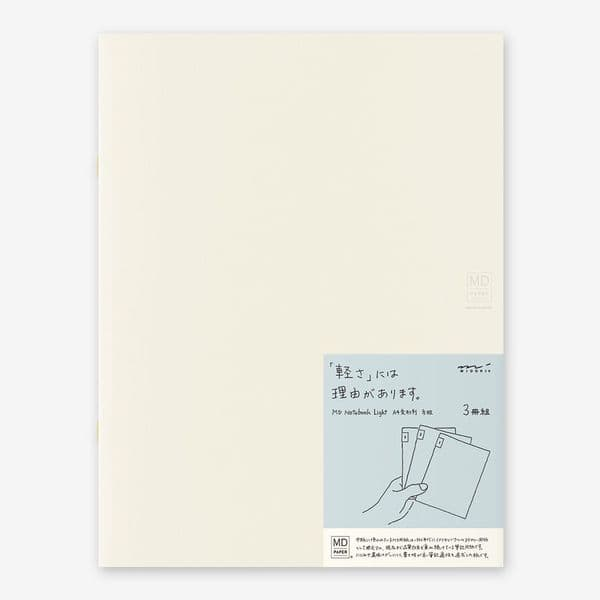 MD - Notebook Light 3 pack - A4 Grid