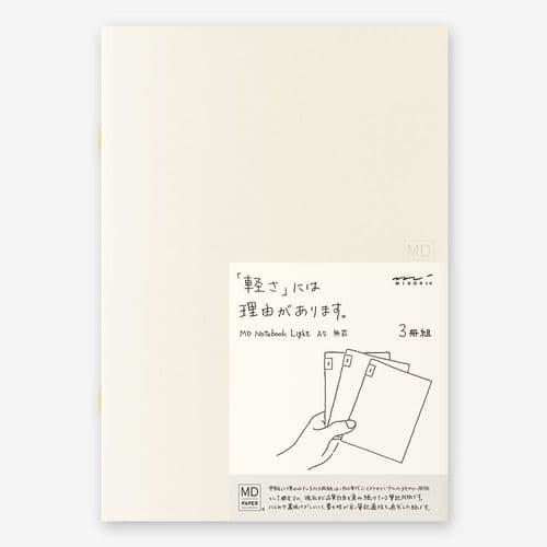 MD - Notebook Light 3 pack - A5 Blank