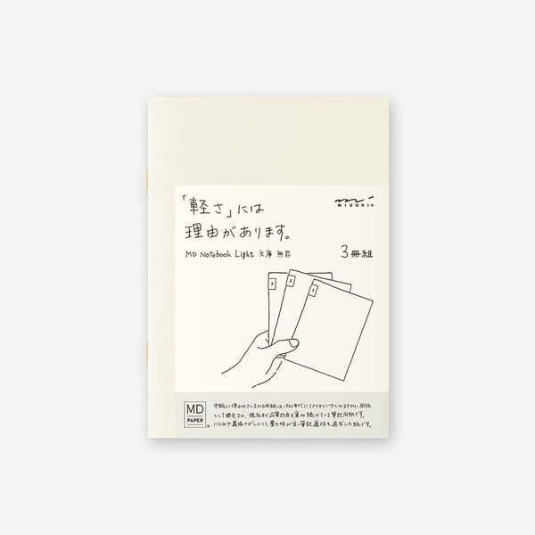 MD - Notebook Light 3 pack - A6 Blank