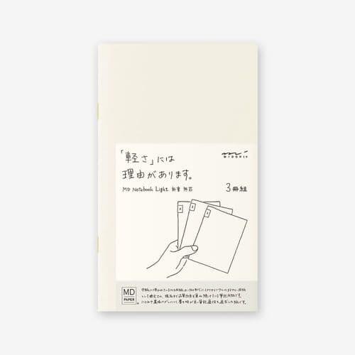 MD - Notebook Light 3 pack - B6 Slim - Blank