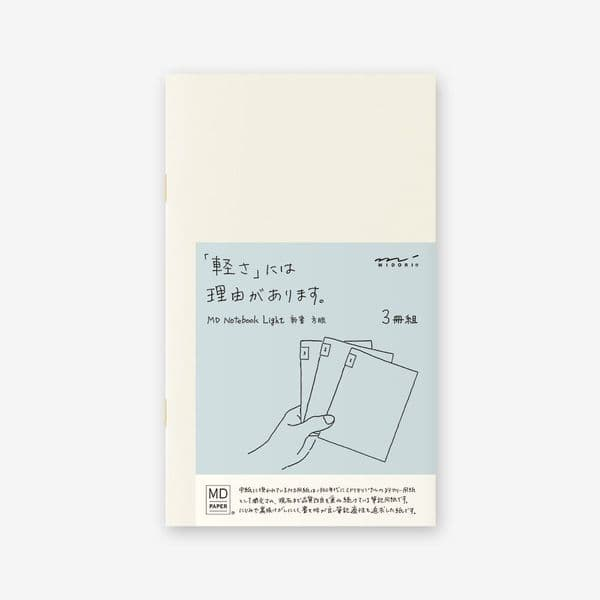 MD - Notebook Light 3 pack - B6 Slim - Grid