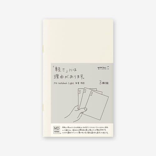 MD - Notebook Light 3 pack - B6 Slim - Ruled