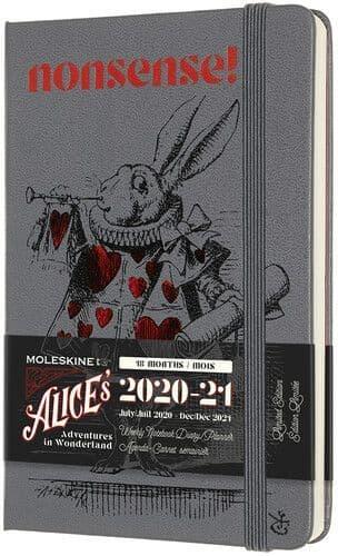 Moleskine - Alice in Wonderland -2020-21 18m Monthly  Planner - Small