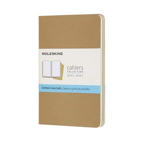 Moleskine - Cahier - Pocket - Kraft Brown (dotted)