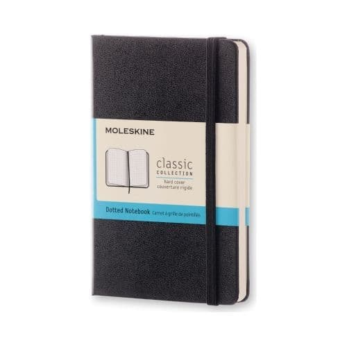 Moleskine - Classic Notebook - Pocket Hardcover - Black (dotted)