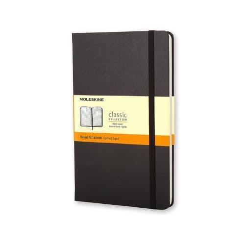 Moleskine - Classic Notebook - Pocket Hardcover - Black (ruled)