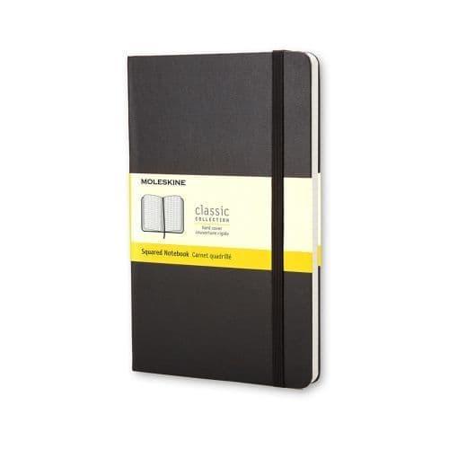 Moleskine - Classic Notebook - Pocket Hardcover - Black (squared)