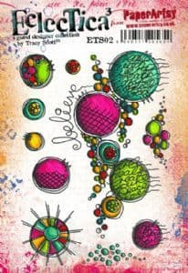 PaperArtsy - Rubber Stamps - E³ Tracy Scott 02 (A5 set, trimmed, on EZ)