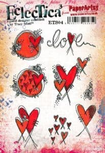 PaperArtsy - Rubber Stamps - E³ Tracy Scott 04 (A5 set, trimmed, on EZ)