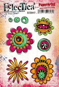 PaperArtsy - Rubber Stamps - E³ Tracy Scott 07 (A5 set, trimmed, on EZ)