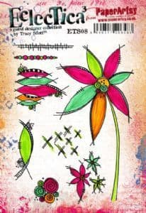 PaperArtsy - Rubber Stamps - E³ Tracy Scott 08 (A5 set, trimmed, on EZ)