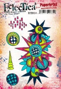 PaperArtsy - Rubber Stamps - E³ Tracy Scott 10 (A5 set, trimmed, on EZ)