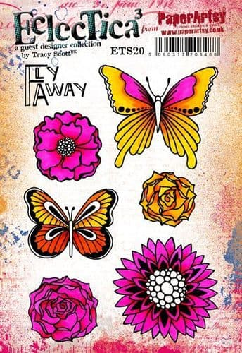 PaperArtsy - Rubber Stamps - E³ Tracy Scott 20 (A5 set, trimmed, on EZ)