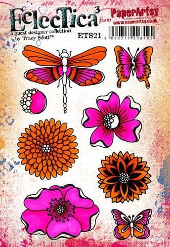 PaperArtsy - Rubber Stamps - E³ Tracy Scott 21 (A5 set, trimmed, on EZ)
