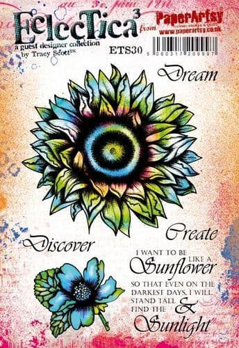 PaperArtsy - Rubber Stamps - E³ Tracy Scott 30  (A5 set, trimmed, on EZ)