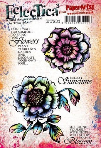 PaperArtsy - Rubber Stamps - E³ Tracy Scott 31  (A5 set, trimmed, on EZ)