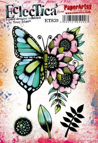 PaperArtsy - Rubber Stamps - E³ Tracy Scott 39  (A5 set, trimmed, on EZ)