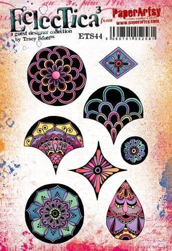 PaperArtsy - Rubber Stamps - E³ Tracy Scott 44  (A5 set, trimmed, on EZ)