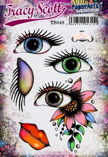PaperArtsy - Rubber Stamps - E³ Tracy Scott 48  (A5 set, trimmed, on EZ)