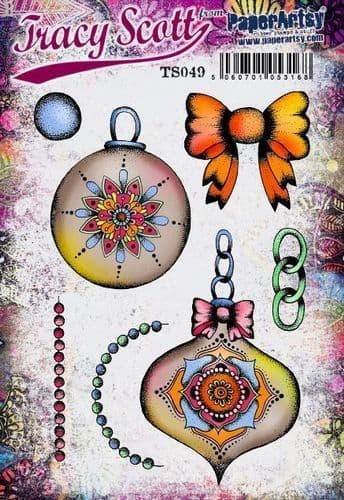 PaperArtsy - Rubber Stamps - E³ Tracy Scott 49  (A5 set, trimmed, on EZ)