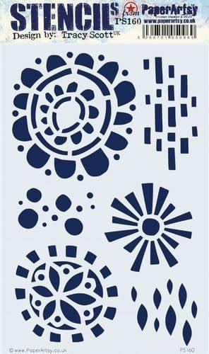 PaperArtsy - Stencil - Tracy Scott 160