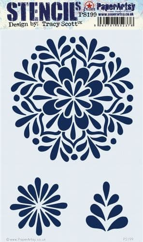 PaperArtsy - Stencil - Tracy Scott #199