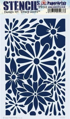 PaperArtsy - Stencil - Tracy Scott #201