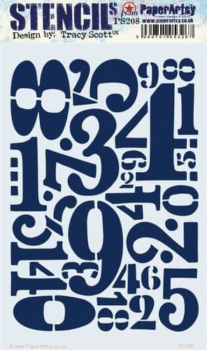 PaperArtsy - Stencil - Tracy Scott #208