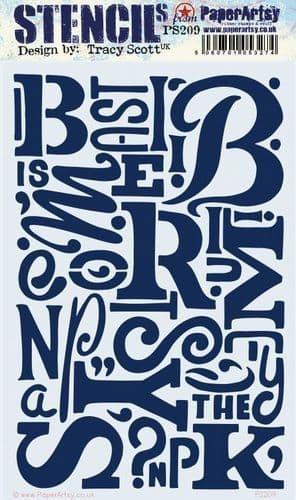 PaperArtsy - Stencil - Tracy Scott #209