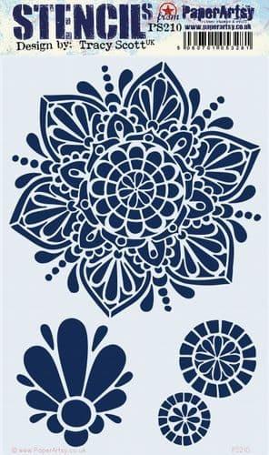 PaperArtsy - Stencil - Tracy Scott #210