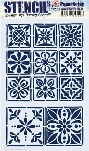 PaperArtsy - Stencil - Tracy Scott #211