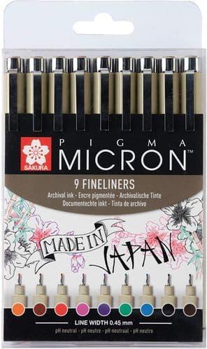 Pigma Micron Coloured - Set 9