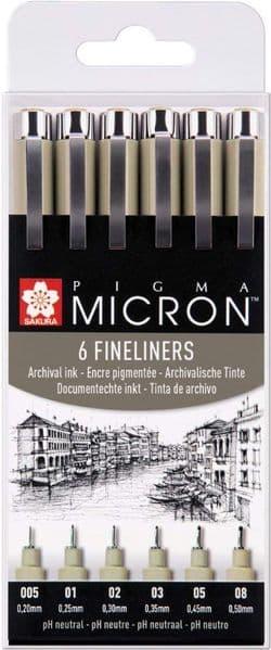 Pigma Micron - Set 6