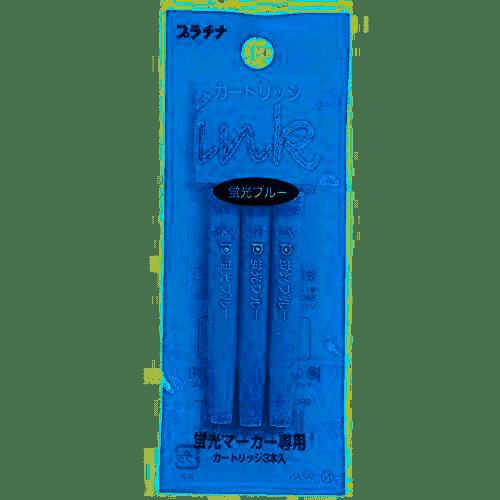 Platinum - Ink Cartridge 3pk - Highlighter Blue